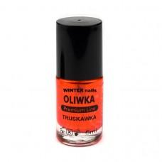 Winter nails Oliwka Truskawka